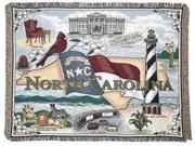 """North Carolina"" State Tapestry Throw Blanket 50"" x 60"""