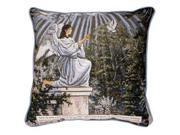 """""""Garden Angel"""" Exodus 23:20 Religious Accent Throw Pillow 17"""" x 17"""""""