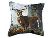 """Impending Challenge"" Deer Hunting Hunter Throw Pillow 17"" x 17"""