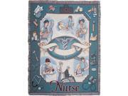 "Nurse Profession Pictorial Afghan Throw Tapestry - 50"" x 70"""