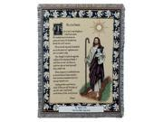"The 23rd Psalm Bible Scripture Tapestry Throw Blanket 50"" x 70"""