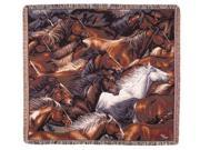 """Horse of a Different Color Tapestry Throw 50"""" x 60"""""""