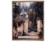 "Guardian Angel In Garden Tapestry Throw 50"" x 60"""