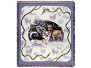"""Chihuahua Dog By Artist Pat Lehmkuhl Tapestry Throw 50"""" x 60"""""""