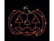 """12"""" Battery Operated LED Lighted Pumpkin Halloween Window Silhouette Decoration"""