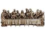 """12"""" Inspirational Antique Silver The Last Supper Religious Table Top Figure"""
