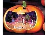 Battery Operated Musical & Lighted Halloween Jack-O-Lantern with Rotating Scene