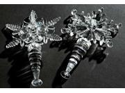 """6.25"""" Elegant Snowflake Christmas Wine Bottle Stopper"""