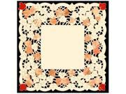 """Autumn Elegance Decorative Embroidered Fall Leaf Table Topper 34"""" x 34"""""""