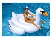 """75"""" Water Sports Inflatable Giant Swan Swimming Pool Ride-On Float Toy"""