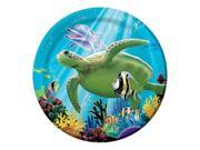 """Club Pack of 96 Tropical Ocean Party Luncheon Paper Party Plates 7"""""""""""" 9SIA09A34D2076"""