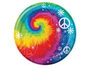 "Club Pack of 192 Tie Dye Fun Disposable Paper Party Lunch Plates 7"""""" 9SIA09A34D2106"