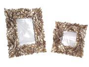 """Pack of 4 Gilded Holly Leaf and Berries Decorative Picture Frames 7""""-10"""""""