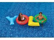109 Multi Colored YOLO Inflatable Novelty Swimming Pool Float