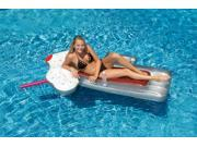 """74"""" Novelty Root Beer Float Inflatable Swimming Pool Floating Raft with On-Board Cooler"""