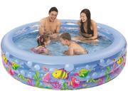 """73"""" Round Sea Life Themed Inflatable Children's Swimming Pool"""