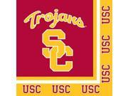Club Pack of 240 NCAA USC Trojans 2-Ply Tailgating Party Lunch Napkins 9SIA09A48G0708