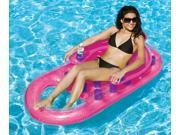 "61"""" Pink Inflatable Swimming Pool Lounger with Dual Drink Holders"" 9SIA09A48J7166"