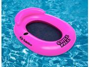 "51"""" Pink Chill Pill Inflatable Swimming Pool Floating Lounge Chair with Drink Holder"" 9SIA09A4477065"