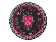 "Club Pack of 96 Bridal Bash Disposable Paper Party Dinner Plates 9"""""" 9SIA09A3569497"