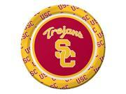 "Pack of 96 NCAA USC Trojans Round Tailgate Party Paper Plates 7"""""" 9SIA09A48H3805"