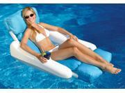 "52"""" Blue and White Sunsoft Sunchaser Swimming Pool Floating Lounge Seat"" 9SIA09A44E6602"
