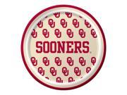 "Pack of 96 NCAA Oklahoma Sooners Round Tailgate Party Paper Plates 7"""""" 9SIA09A48K0515"