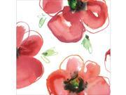 """Club Pack of 216 Mod Poppies Premium 2-Ply Disposable Lunch Napkins 6.5"""""""""""" 9SIA09A4342156"""