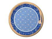 "Club Pack of 96 Blue Bandana Cowboy Disposable Paper Party Dinner Plates 9"""""" 9SIA09A43Y3687"