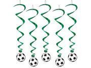 "Club Pack of 30 World Cup Themed Soccer Ball Cut-Out Dizzy Dangler Hanging Party Decorations 40"""""" 9SIA09A35X1442"