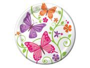 "Club Pack of 96 Butterfly and Flower Aflutter Luncheon Party Plates 9"""""" 9SIA09A43Y3868"