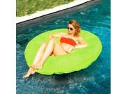 "55"""" Vibrant Lime Green SunSoft Island Circular Inflatable Swimming Pool Float"" 9SIA09A4436884"