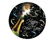 """Club Pack of 96 New Year's Pop Disposable Paper Party Dinner Plates 9"""""""""""" 9SIA09A3AM4088"""