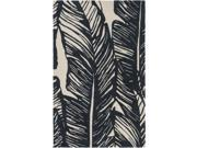2' x 3' Enchanted Pines Charcoal Black and Ivory White Area Throw Rug 9SIA09A2W83638