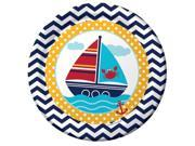 "Club Pack of 96 Ahoy Matey Disposable Paper Party Dinner Plates 9"""""" 9SIA09A3BK7761"