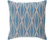 "18"""" x 18"""" Diamantes Cuerda Aqua Blue and Tan Decorative Square Throw Pillow"" 9SIA09A41T0122"