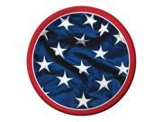 """Club Pack of 96 Patriotic Symbol American Flag Disposable Dinner Paper Party Plates 7"""""""""""" 9SIA09A43Y3982"""