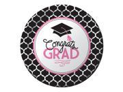 "Club pack of 180 """"Congrats Grad"""" from our Glamorous Grad Disposable Paper Graduation Party Dinner Plates 9"""""" 9SIA09A43Y3763"