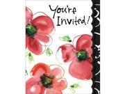 Club Pack of 48 Mod Poppies Holiday Party Paper Invitation Cards 9SIA09A4342118