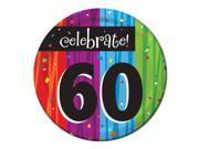 """Club Pack of 96 Milestone Celebrations """"""""Celebrate 60"""""""" Disposable Paper Party Lunch Plates 7"""""""""""" 9SIA09A34D3234"""