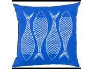 "18"""" Royal Blue and Light Gray Trout Dreams Decorative Throw Pillow"" 9SIA09A3UZ8940"