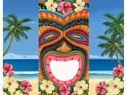 "Pack of 6 Tropical Island Tiki Bean Bag Toss Game Boards 30"""""" 9SIA09A1Z10341"