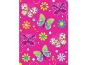"Club Pack of 48 Pink Butterfly Sparkle Value Sticker Sheets 8"""""" 9SIA09A34D4549"