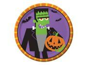 """Club Pack of 96 Creepy Characters Fun Frankenstein Halloween Lunch Plates 7"""""""""""" 9SIA09A42Z9104"""