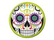 "Club Pack of 96 Skelebration Day of the Dead Skull Close-Up Lunch Plates 7"""""" 9SIA09A4315662"