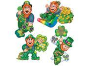 """Pack of 24 Leprechaun Cutouts St. Patrick's Day Decorations 14"""""""""""" 9SIA09A35C6899"""