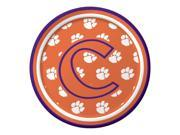"Pack of 96 NCAA Clemson Tigers Round Tailgate Party Paper Plates 7"""""" 9SIA09A48F5542"
