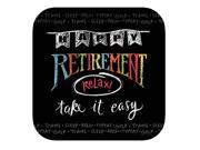 "Club Pack of 96 Retirement Chalk Disposable Paper Party Dinner Plates 9"""""" 9SIA09A35C6811"