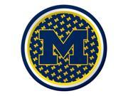 "Pack of 96 NCAA Michigan Wolverines Round Tailgate Party Paper Plates 7"""""" 9SIA09A48F5204"