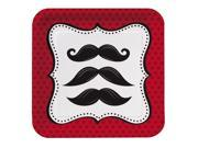 """Club Pack of 96 Mustache Madness Disposable Paper Party Lunch Plates 7"""""""""""" 9SIA09A34D2368"""